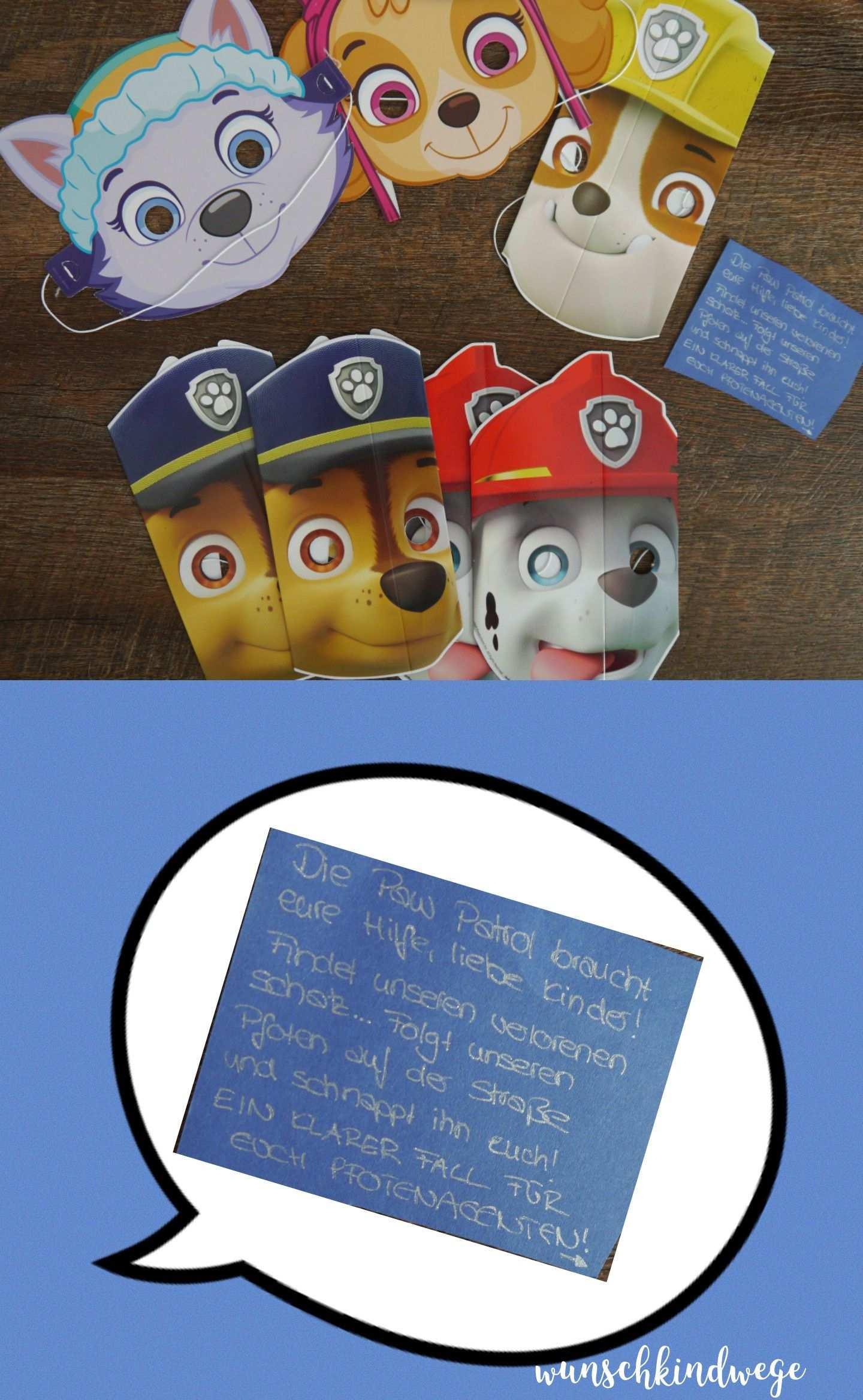 Paw Patrol Geburtstag Paw Patrol Masken Fur Schatzsuche Paw Patrol Geburtstag Paw Patrol Geburtstag Einladungen Einladungskarten Kindergeburtstag