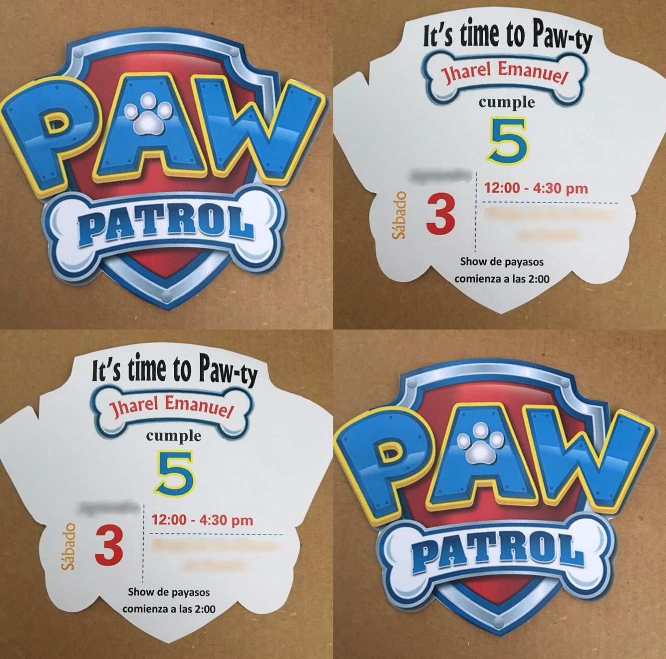 Paw Patrol Logo Invitations Paw Patrol Geburtstag Einladungen Pfote Patrouille Geburtstag Paw Patrol Geburtstag