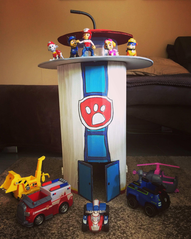 Diy Paw Patrol Pawpatrol Pawpatrolzentrale Zentrale Paw Patrol Paw Patrol Spielzeug Kinder Basteln Ideen Kinderbasteleien