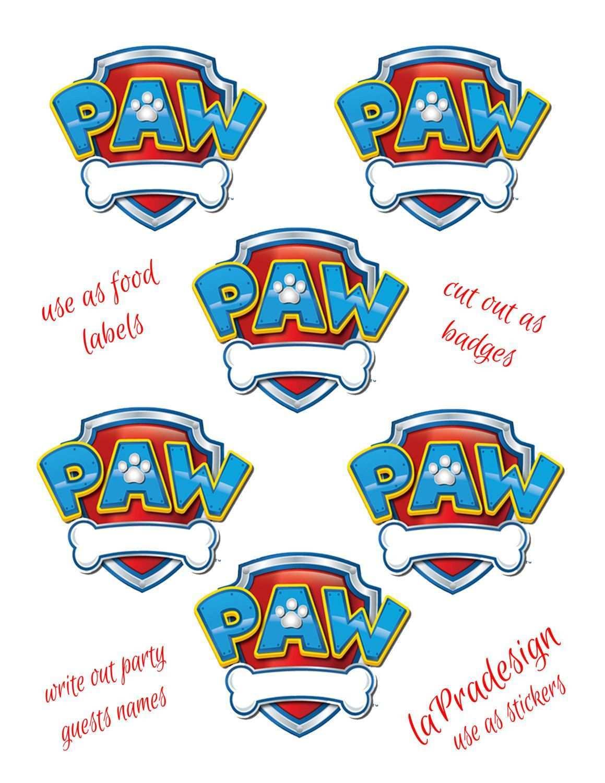 Paw Patrol Birthday Party Badge 3 Inch Circles 2 Pdf Files Etsy Paw Patrol Birthday Paw Patrol Party Paw Patrol Invitations