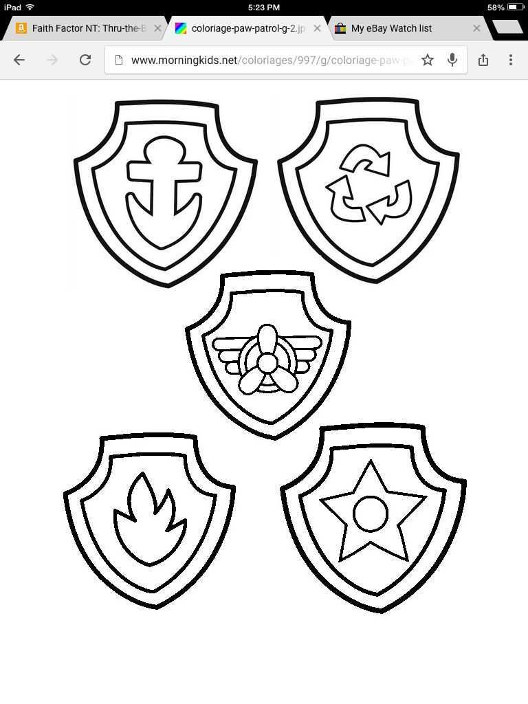 Badge Template With Images Paw Patrol Coloring Paw Patrol Badge Paw Patrol Coloring Pages