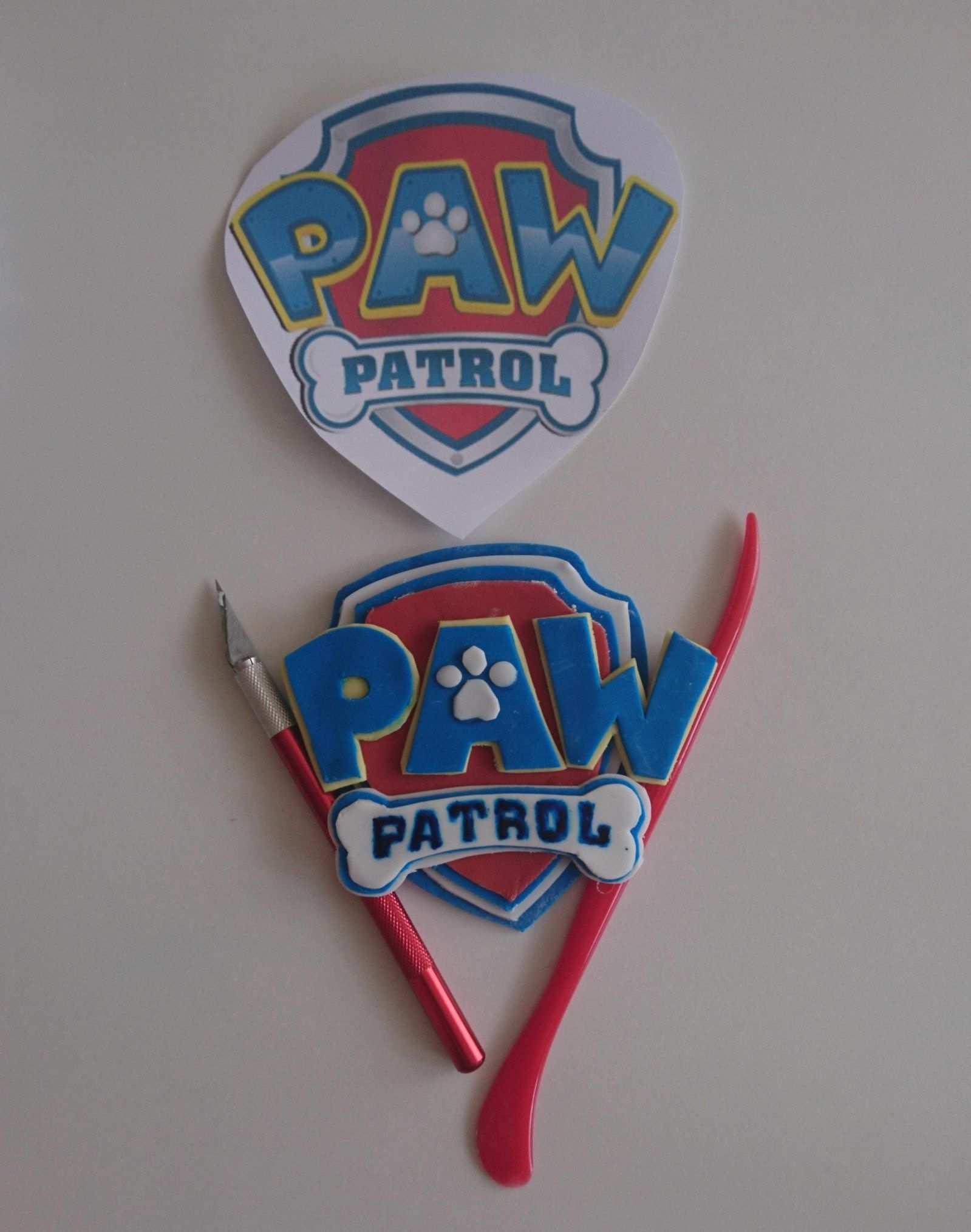 Paw Patrol Kuchen Motivtorte Tutorial Das Logo Paw Patrol Kuchen Motivtorten Tutorial Motivtorte