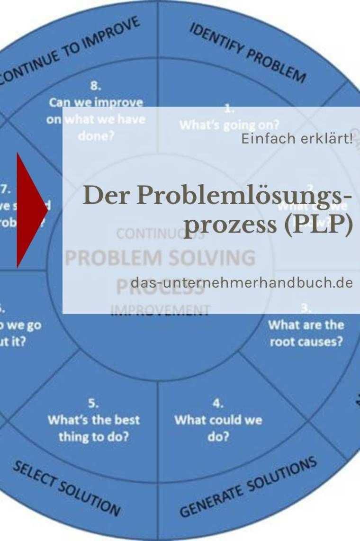 Der Problemlosungsprozess Plp Einfach Erklart Problemlosungsprozess Unternehmungen Unternehmensfuhrung