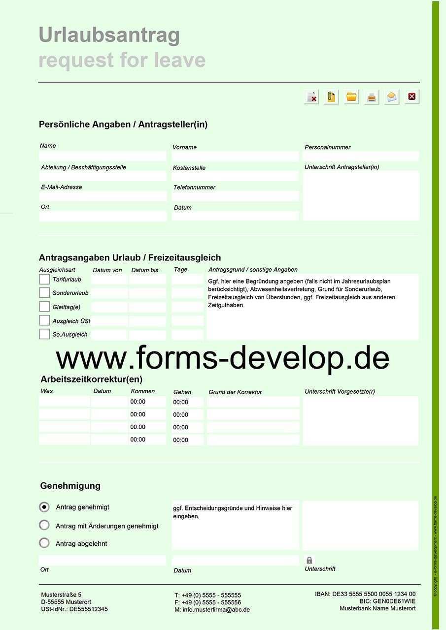 Urlaubsantrag Pdf Formular Www Forms Develop De Mail Adresse Interaktives Pdf Formular