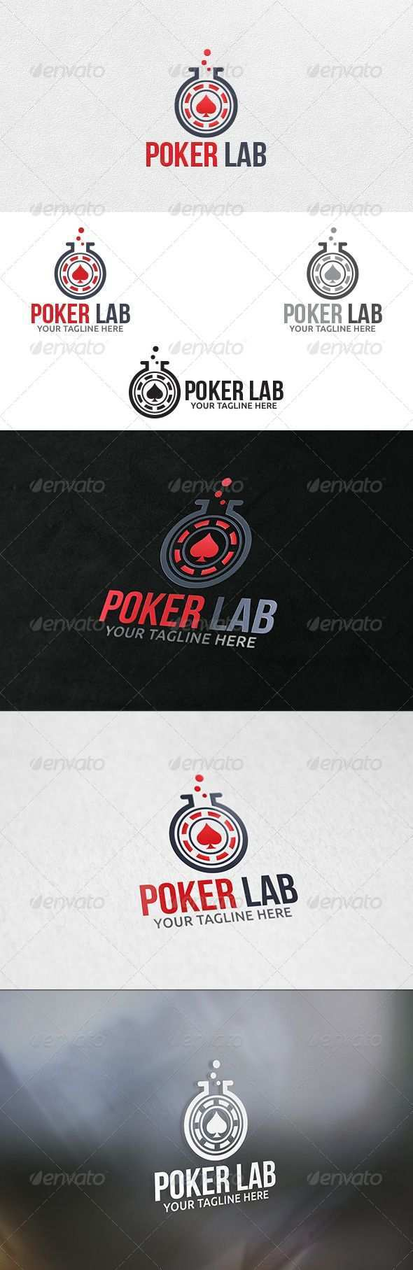 Poker Lab Logo Template Logo Design Vorlage