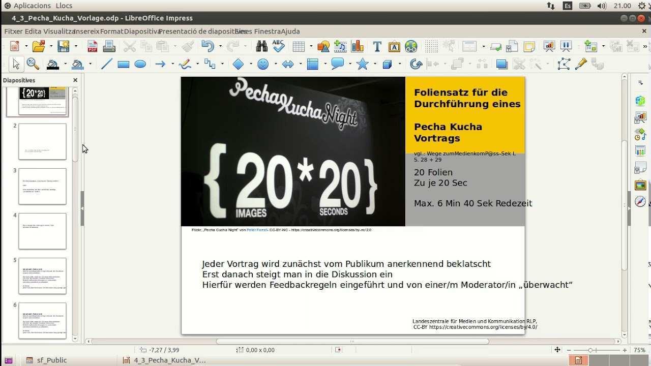 Libre Office Impress Pecha Kucha Youtube