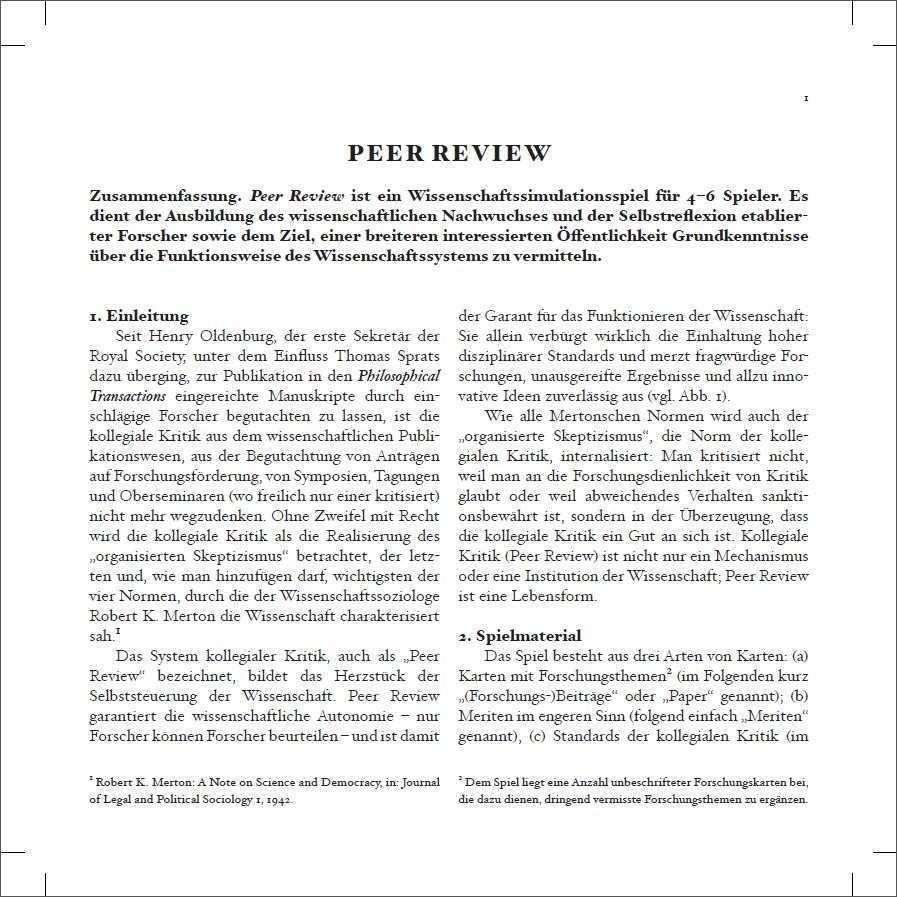 Peer Review Die Junge Akademie