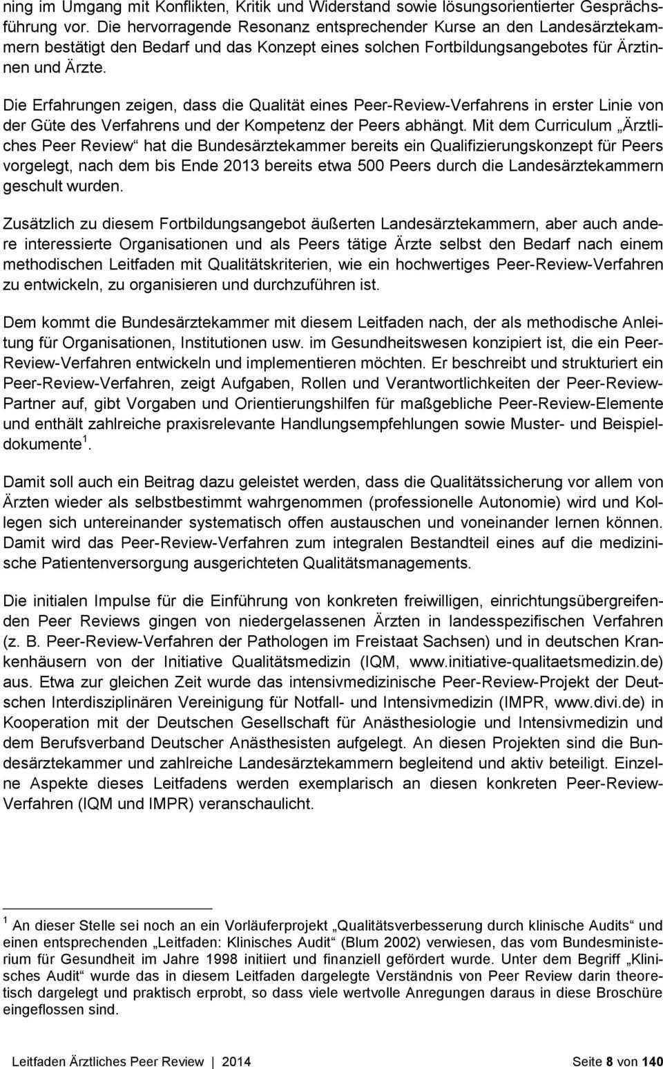 Bundesarztekammer Leitfaden Arztliches Peer Review Herausgeber Bundesarztekammer Pdf Free Download
