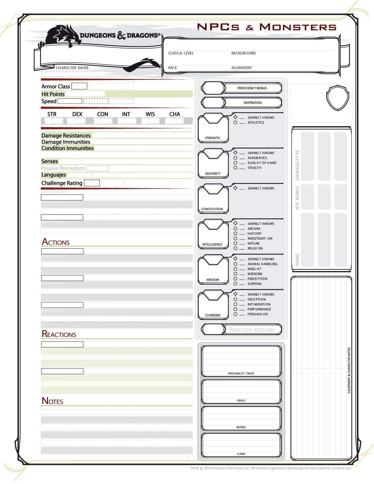 Http Community Wizards Com Sites Mtgcommunity Files D 26d Next Monster 26npc Sheet Fan Made Jpg Dungeons And Dragons Dnd Character Sheet Character Sheet