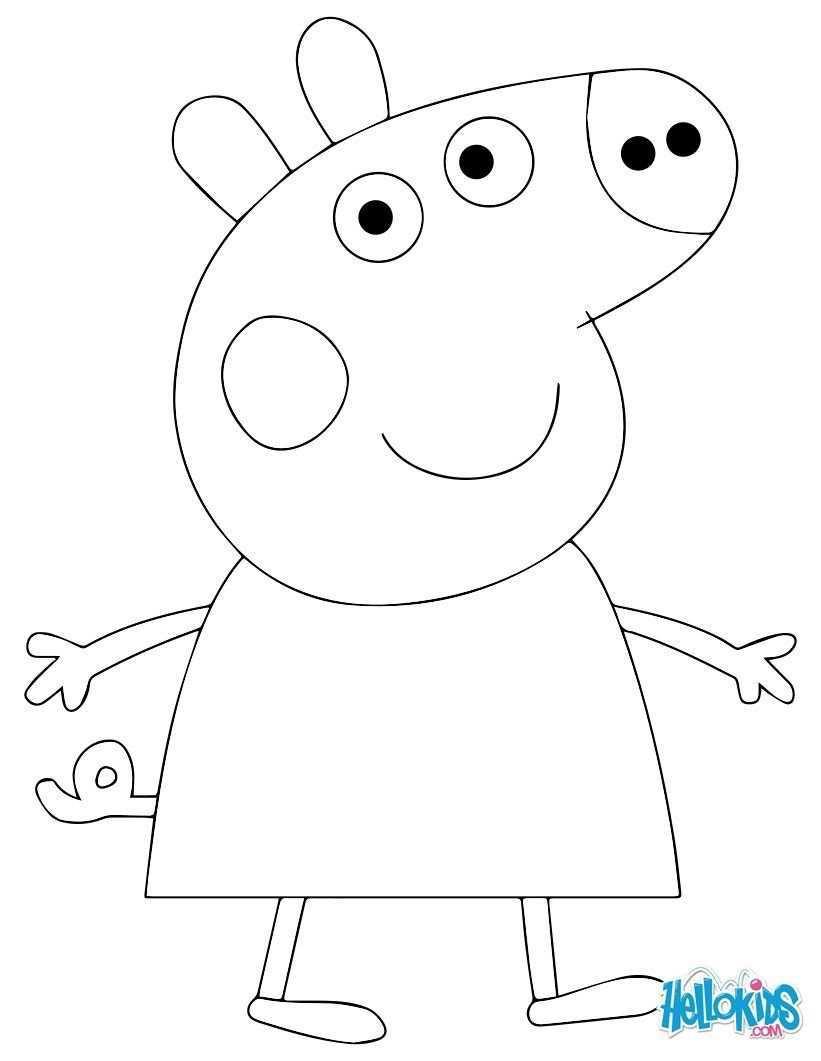 Image From Http Images Hellokids Com Uploads Tiny Galerie 20141146 Peppa Pig Coloring Page Jex Peppa Wutz Geburtstag Peppa Schwein Kuchen Peppa Wutz Torte