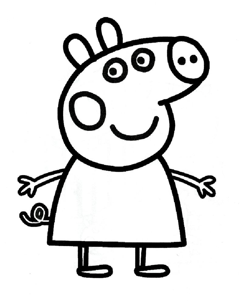 La Mitica Peppa Pig 3 Bilder Zum Ausdrucken Lustige Malvorlagen Ausmalbilder
