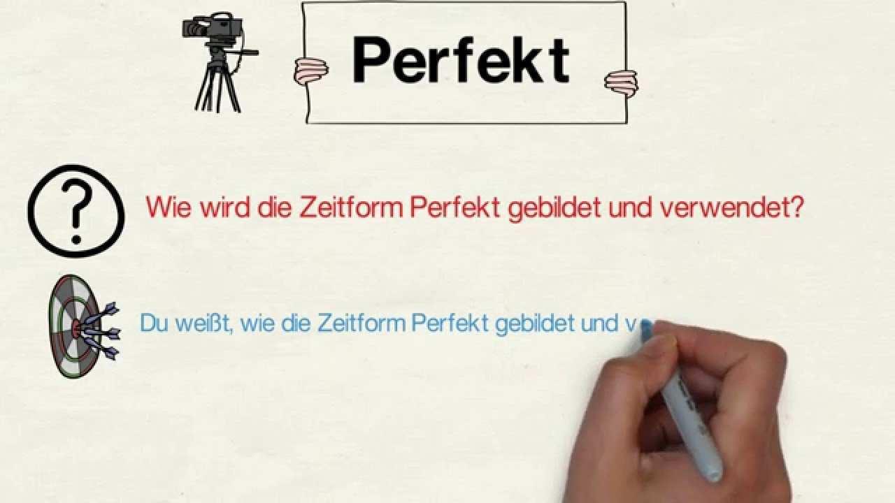 Zeitform Perfekt Vollendete Gegenwart Youtube