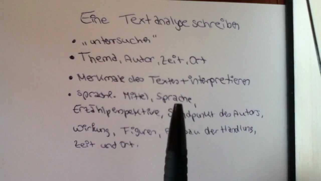 Eine Textanalyse Schreiben Aufbau Und Beispiel Fur Den Deutsch Unterricht Youtube