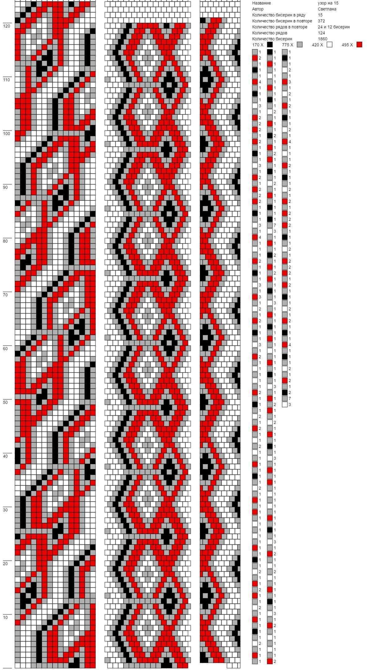 15 Beads Around Bead Crochet Glasperlen Hakelanleitungen Hakeln Perlen Armbander Perlenmuster