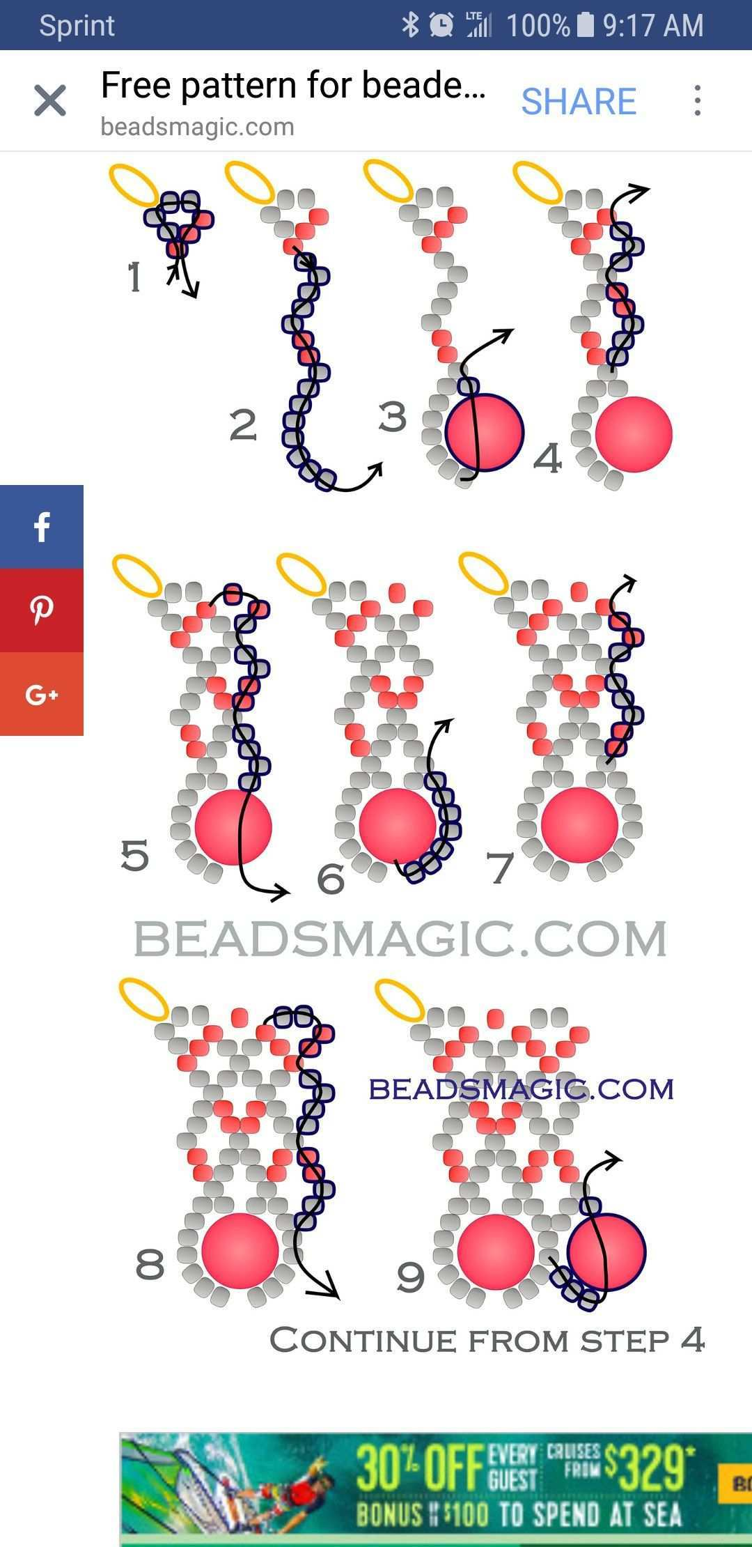 Pin By Sabine Froschhauser On Jewelry Beading Projects Beading Crafts Beaded Bracelets