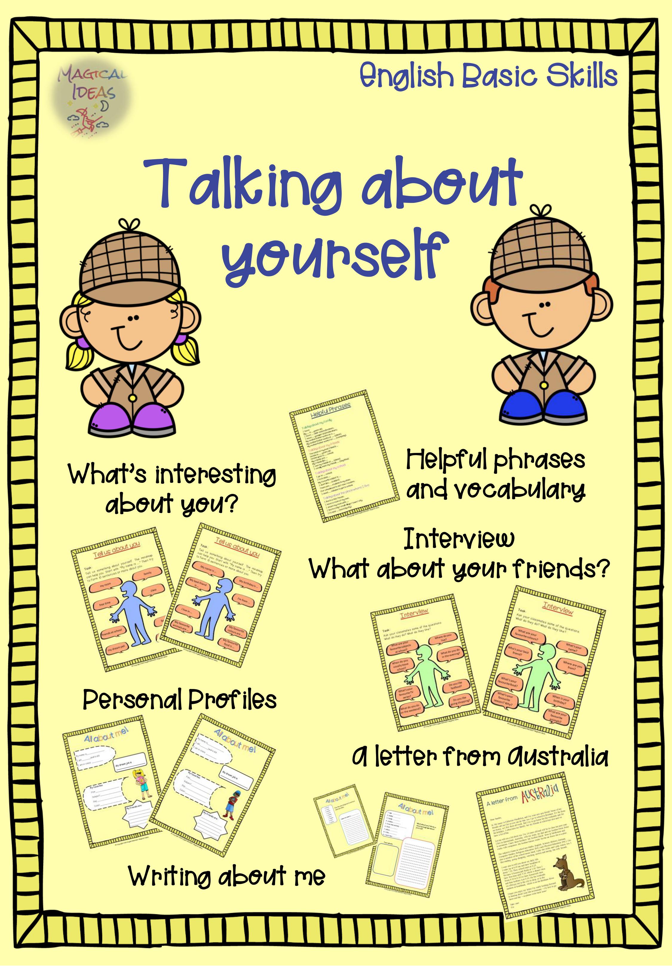 Talking About Yourself Speaking Activities Unterrichtsmaterial Im Fach Englisch Unterrichtsmaterial Englischunterricht Englisch Lernen
