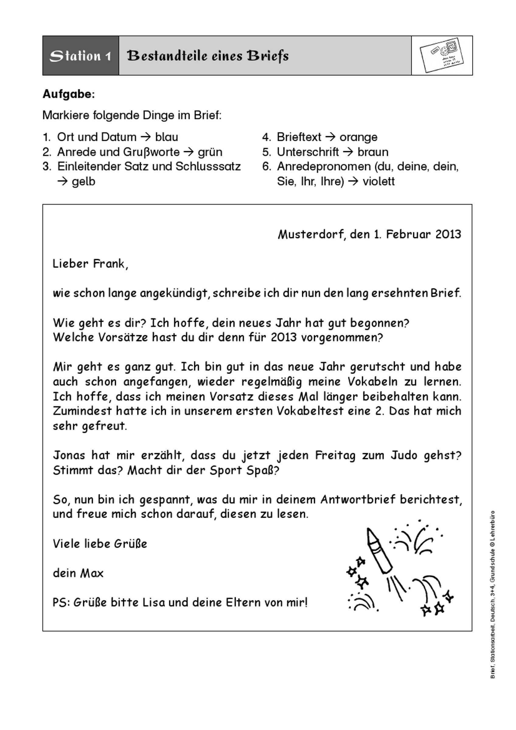 Brief Schreiben 3 Klasse Google Suche Brief Schreiben Grundschule Briefe Schreiben Brief