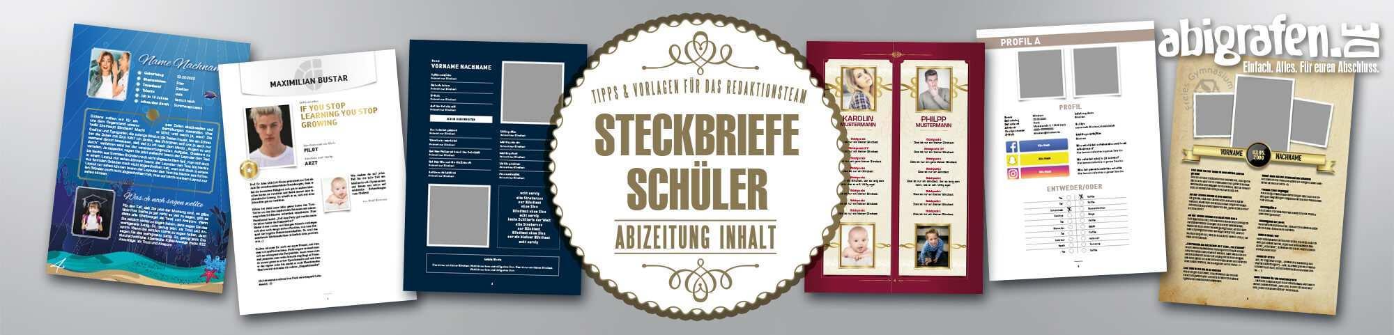 Steckbrief In Der Abizeitung Kostenlose Vorlagen Abigrafen De Gmbh