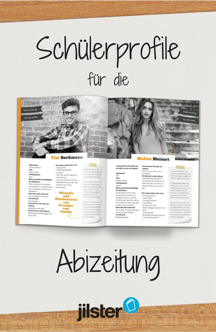 Abizeitung Steckbriefe Gestalten Jilster Blog Abizeitung Zeitung Schulerzeitung
