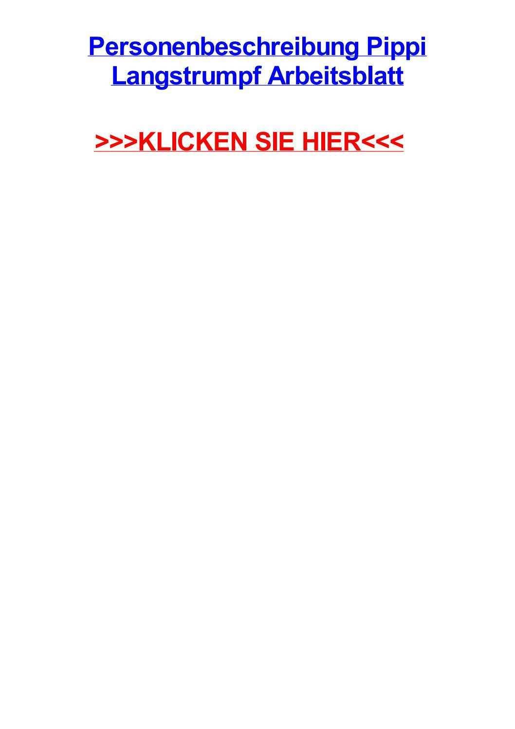 Personenbeschreibung Pippi Langstrumpf Arbeitsblatt By Johnohtlu Issuu