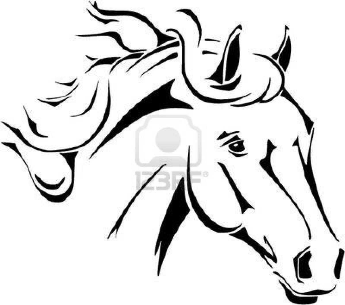 Coloring To Print Animals Horse Number 186595 Horse Stencil Horse Tattoo Tribal Horse Tattoo