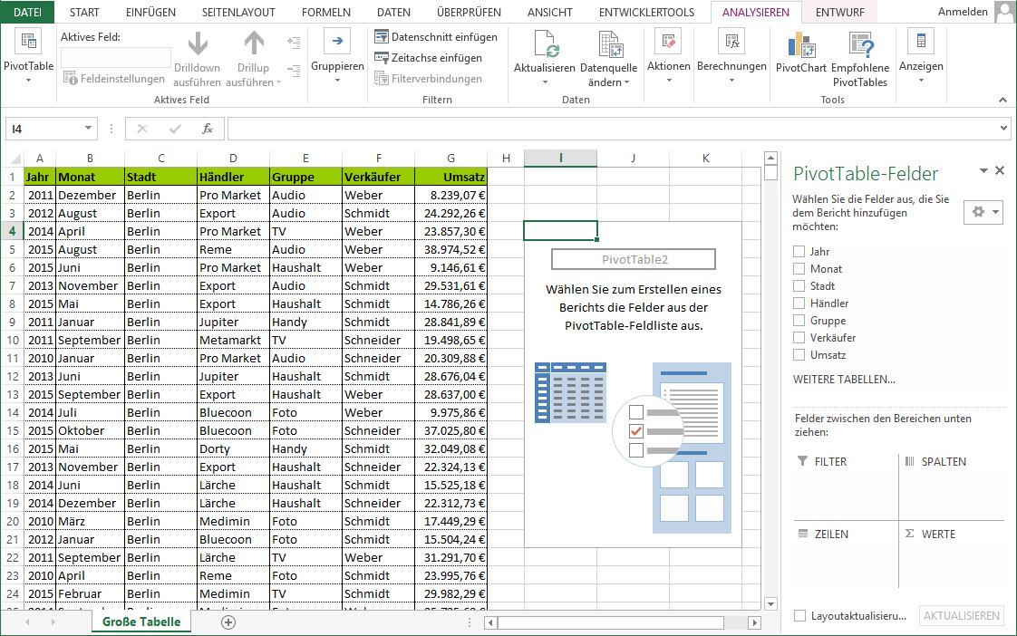 Excel Pivot Tabelle Am Beispiel Erklart Traens Com