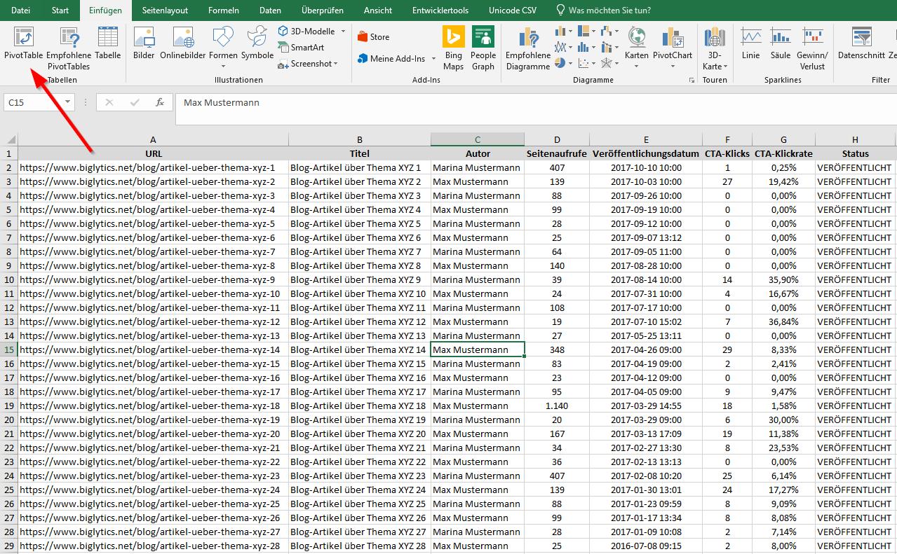 Excel Pivot Tabelle Erstellen Schritt Fur Schritt