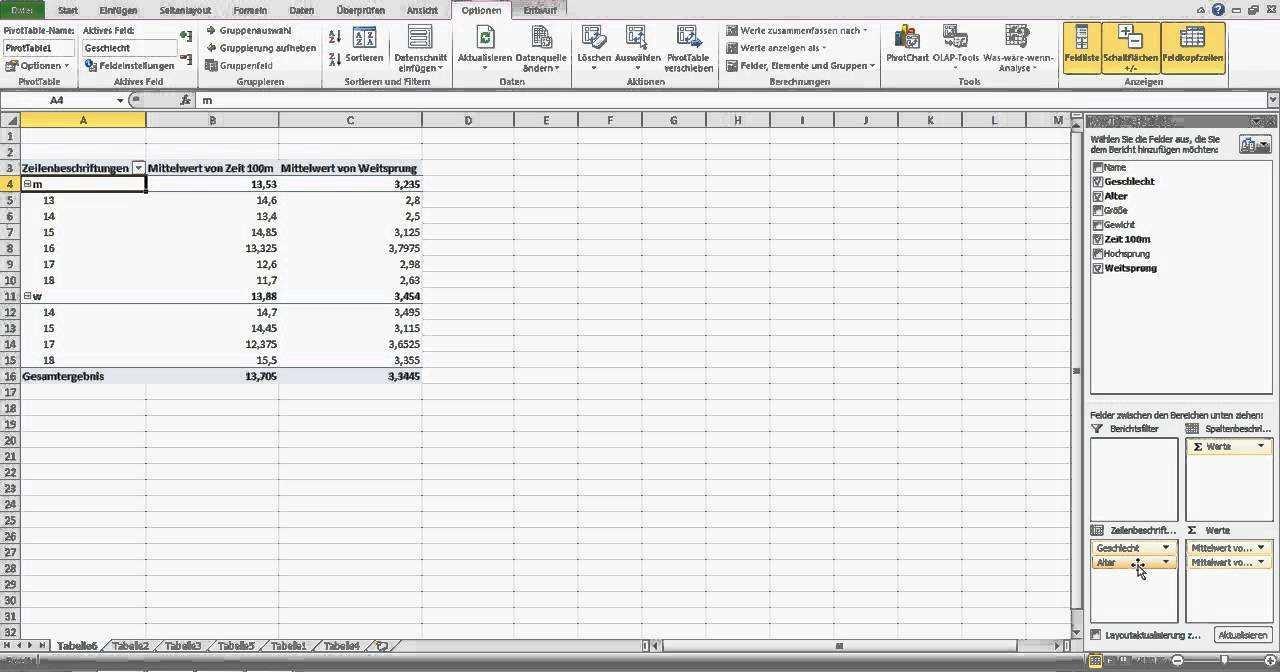 Pivot Tabellen Erstellen Excel Fur Einsteiger Youtube