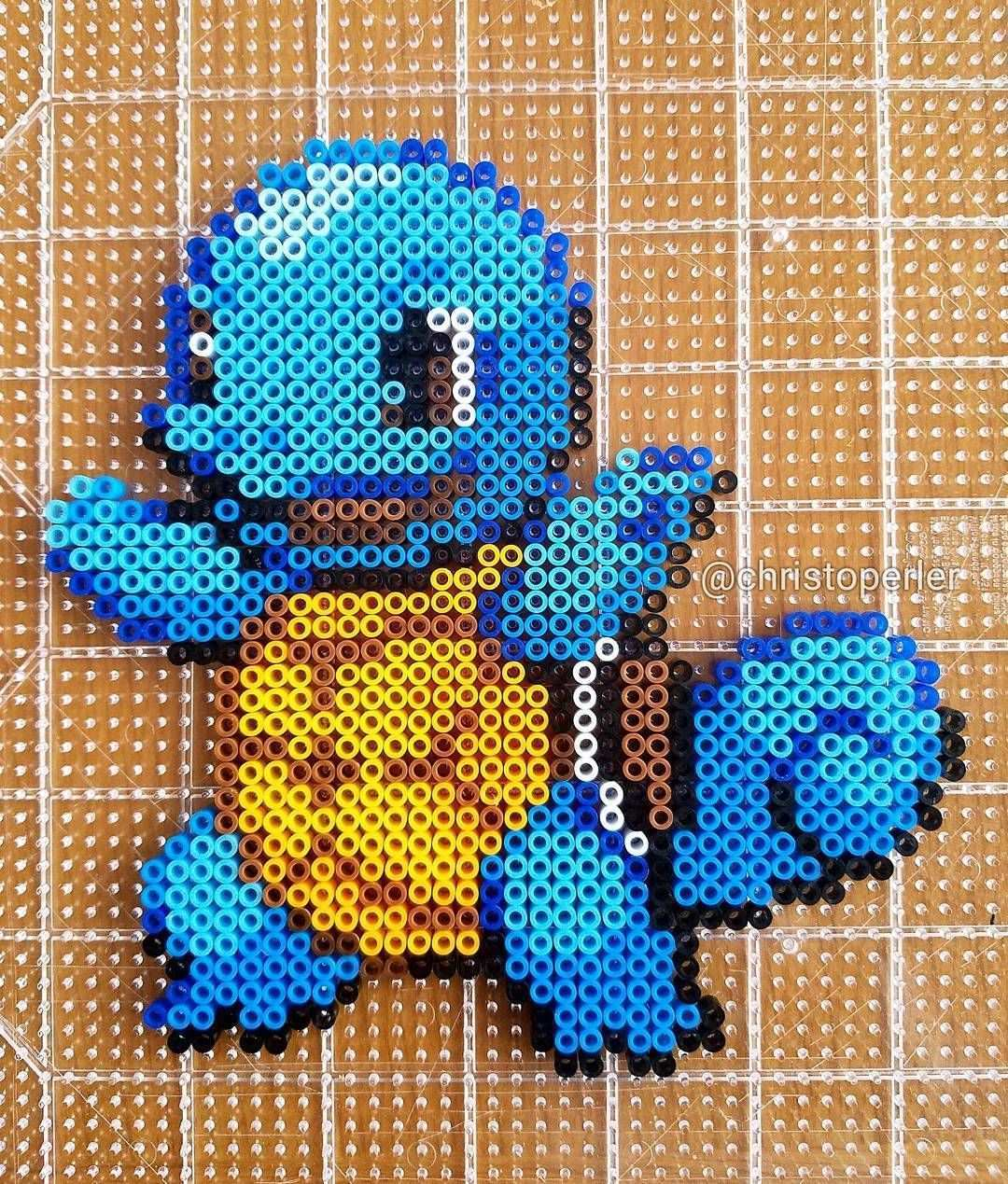 Squirtle Pokemon Perler Fuse Beads By Christoperler Pokemon Perler Beads Pokemon Bead Perler Beads Designs