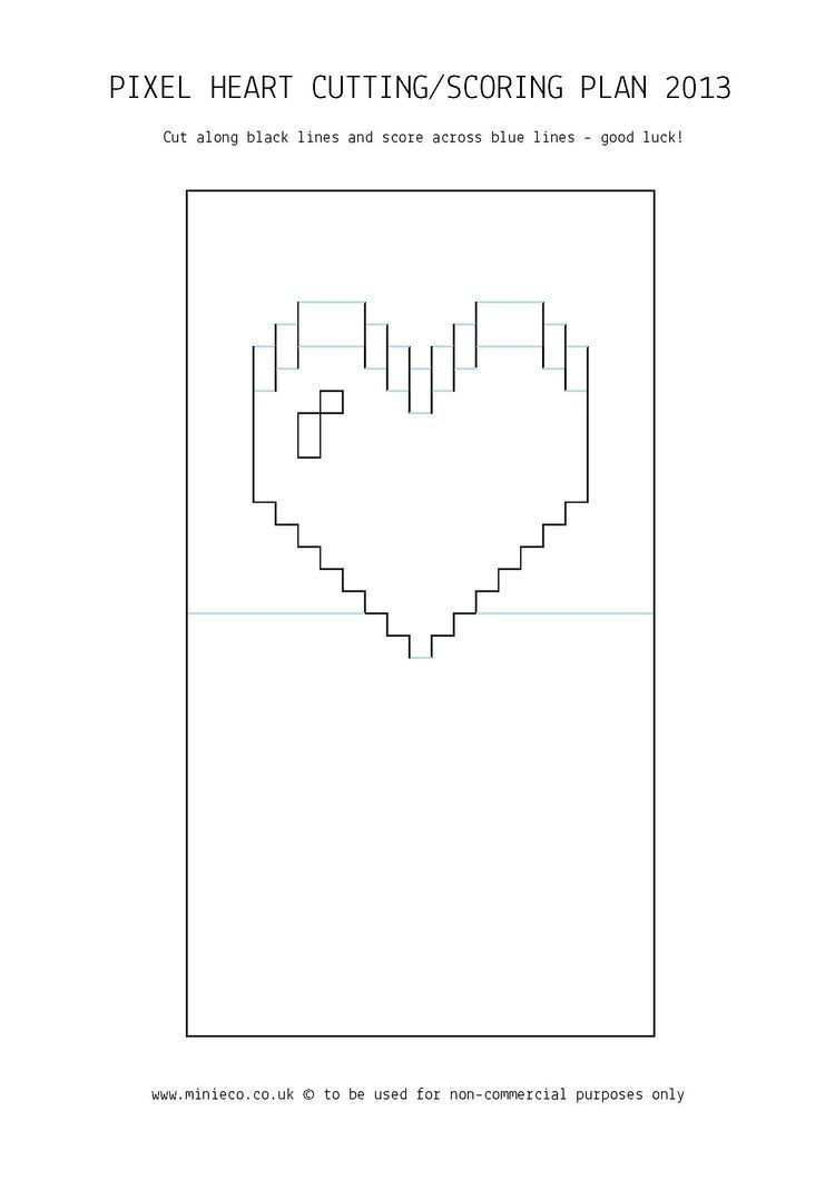 Pixel Heart Pop Up Card Template Atlantaauctionco Inside Pixel Heart Pop Up Card Template Cumed Org Hacer Cajas De Regalo Regalos Manuales De Amor Tarjetas