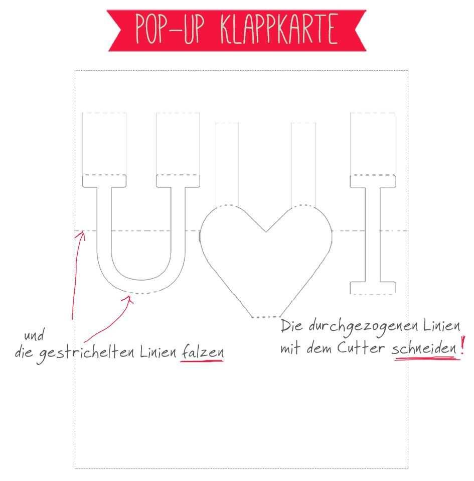 Freebie Auf Einhochzeitsblog Com Pop Up Karte Als Liebesbeweis Pop Up Karten Vorlagen Pop Up Karten Karten