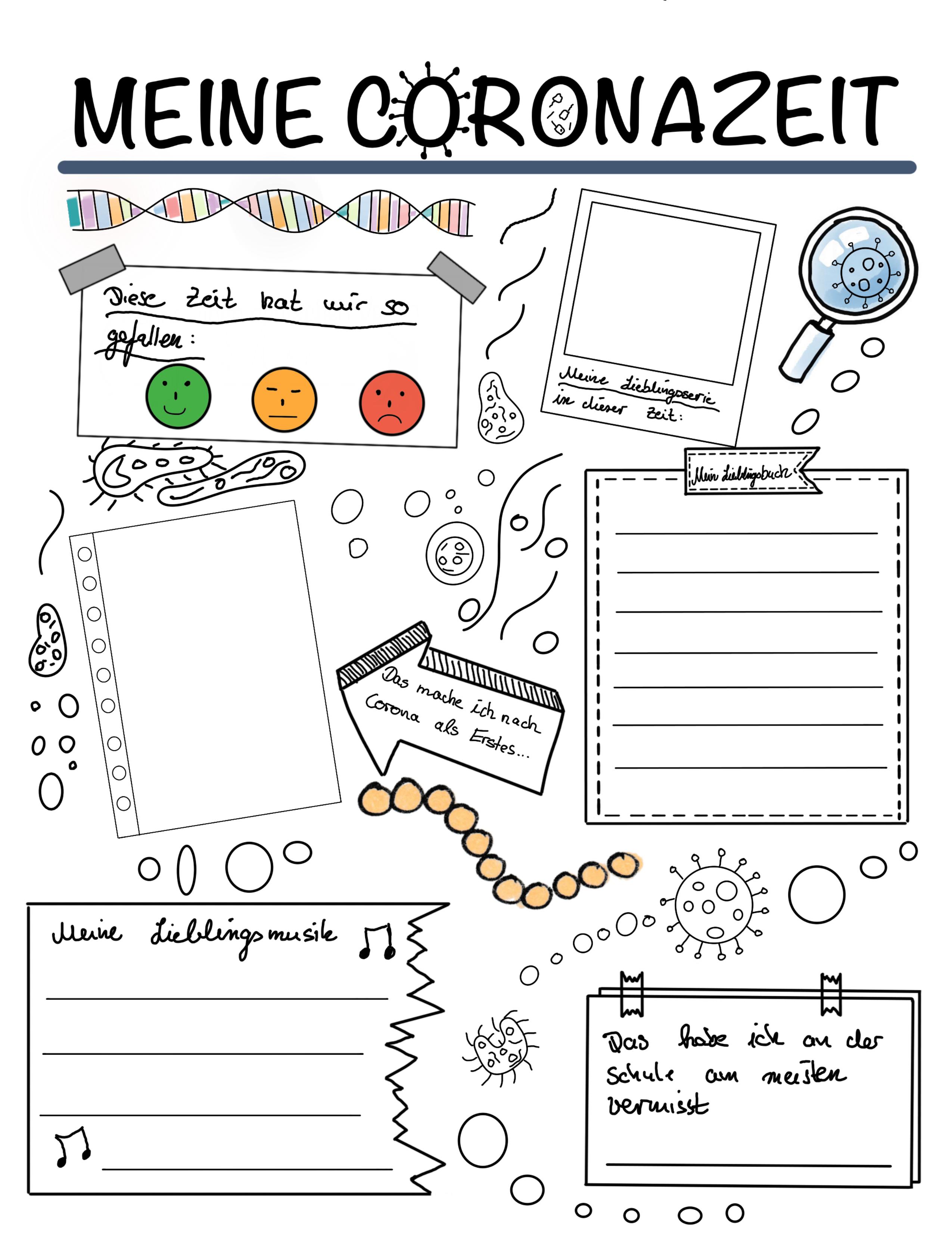 Meine Coronazeit Unterrichtsmaterial In Den Fachern Deutsch Fachubergreifendes Vorschullieder Schulposter Unterrichtsmaterial
