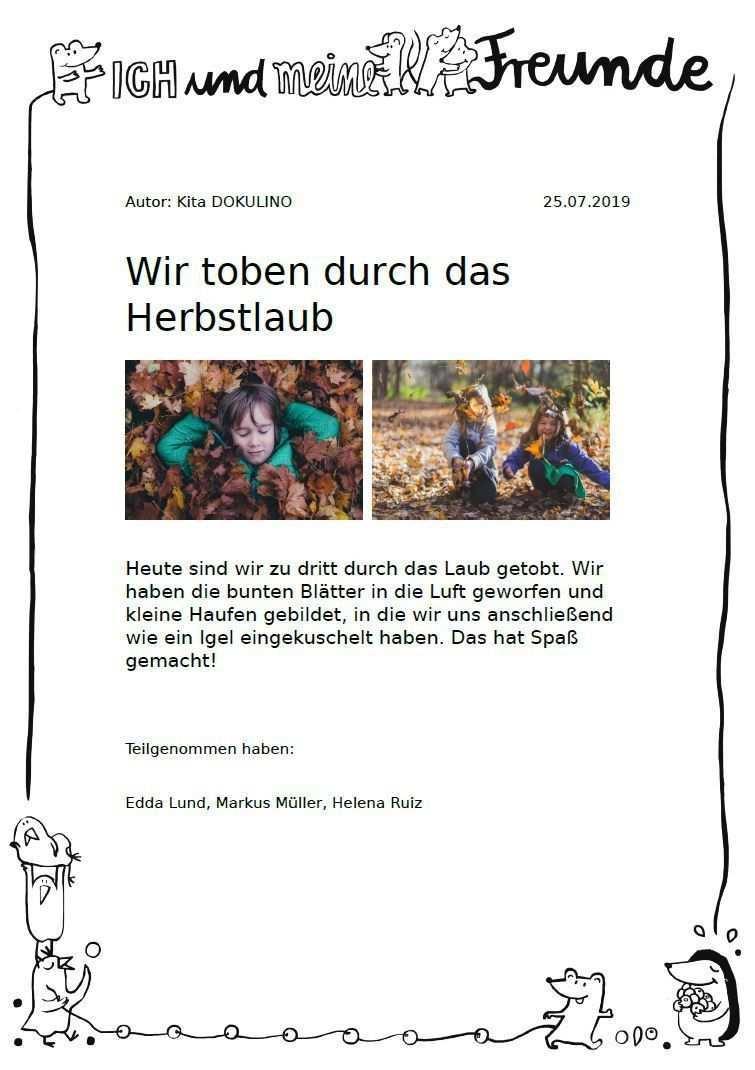 Portfolio In Kindergarten Kita Krippe Hort Kitalino Portfolio In Kinderkrippe Kindergarten Kita Und Hort Kitalino 2020 Free