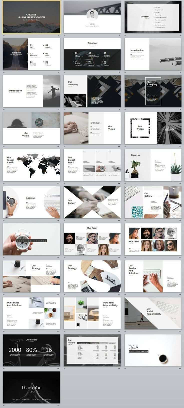 30 Gray Creative Business Design Powerpoint Templates Business Creative Design Gray Portfolio Powerpoint In 2020 Geschaftsdesign Broschure Design Power Point