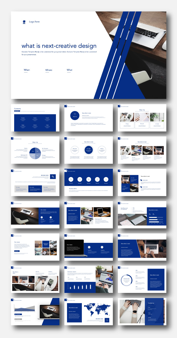Blue Creative Design Premium Powerpoint Template Original And High Quality Powerpoint Templates In 2020 Powerpoint Presentation Design Presentation Design Layout Powerpoint Design Templates