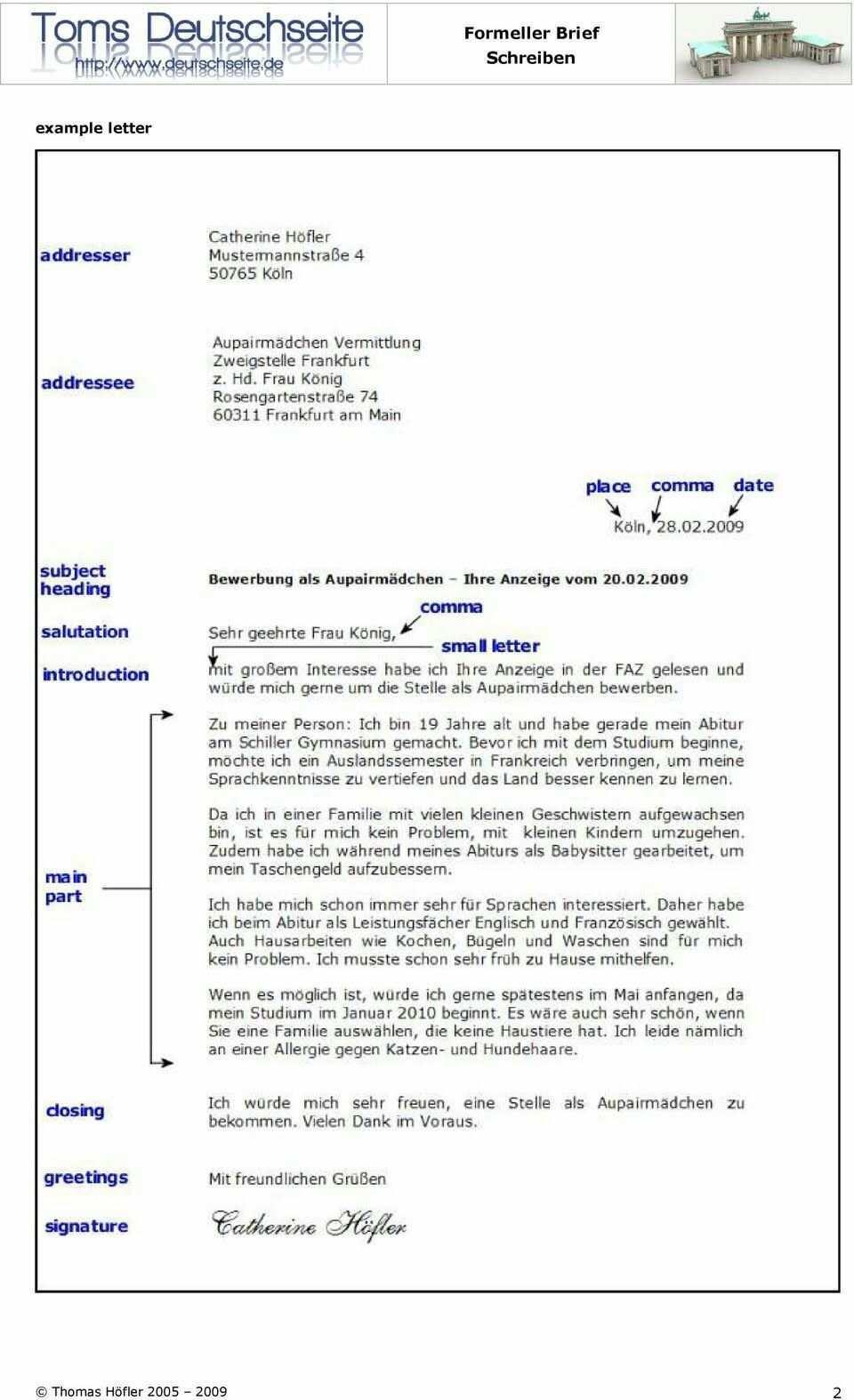 Musterbrief B1 Brief Deutsch Briefe Schreiben Deutsch Schreiben