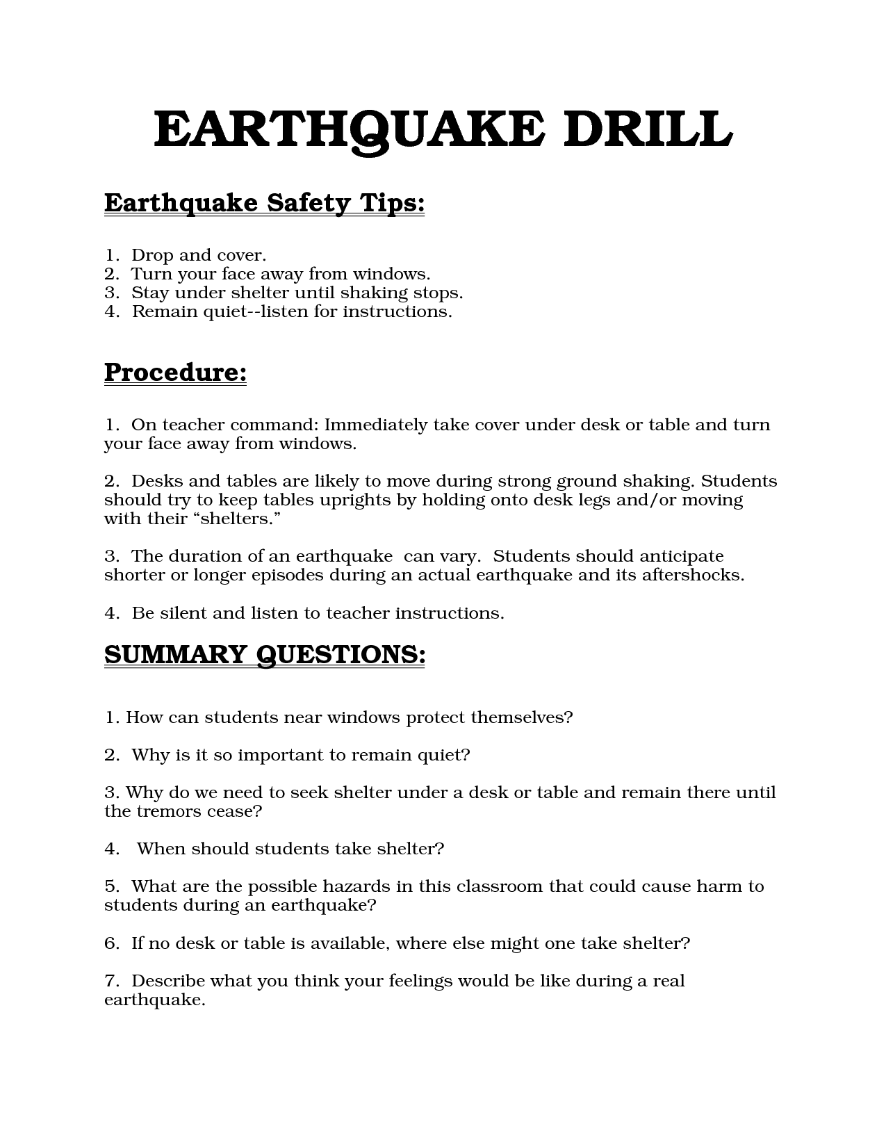 Earthquake Drill Education Quotes For Teachers Education Education Motivation