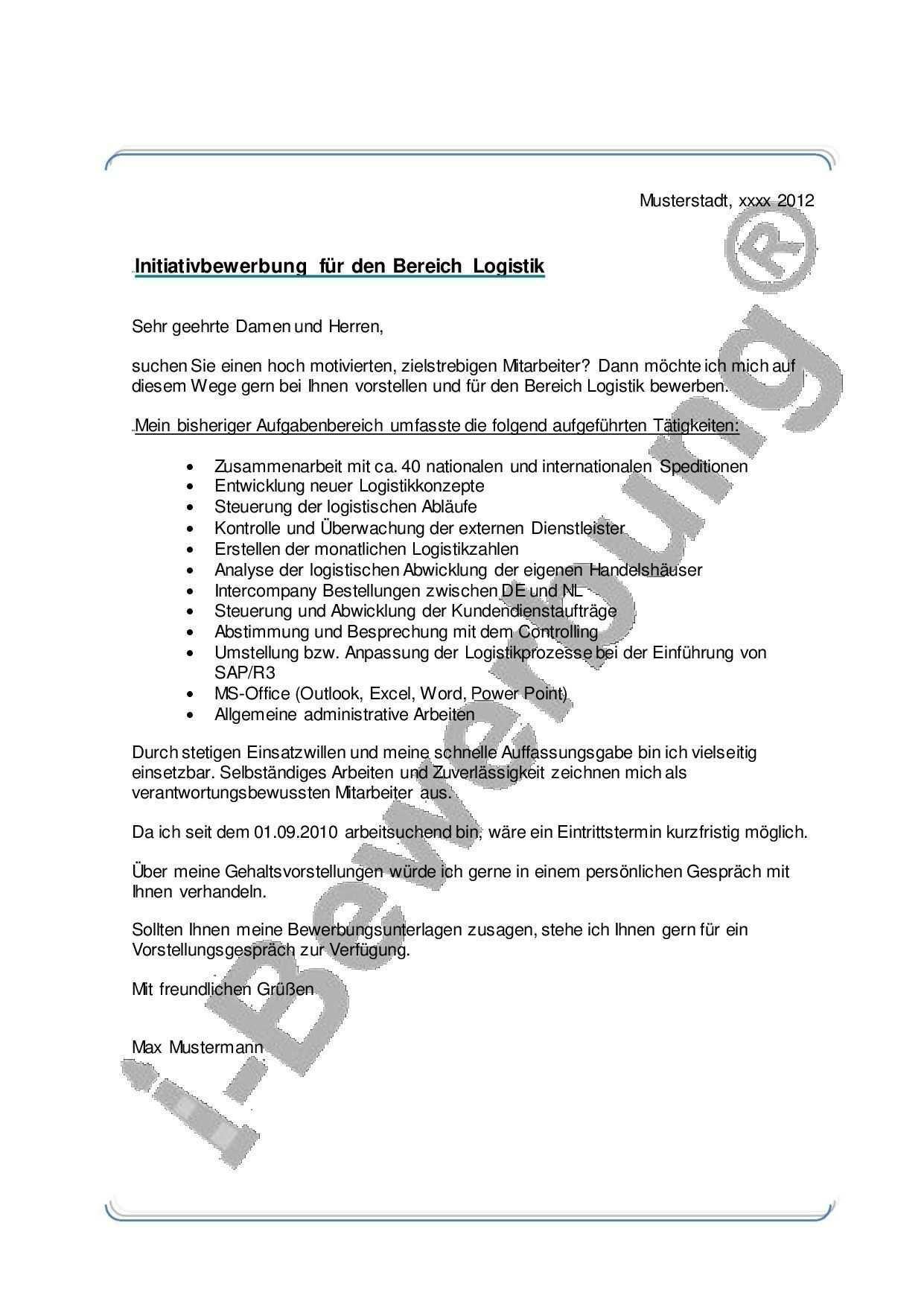 Muster Anschreiben Zur Initiativbewerbung Bereich Bewerbung Logistik Muster Anschreiben Initiativbewerbung Bereich Beispiel Zur Bewerbung In 2020 Sheet Music Job
