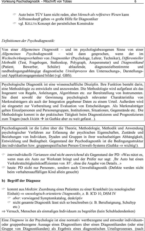 Vorlesung Psychodiagnostik Mitschrift Von Tobias 1 Version 1 2 Februar Pdf Kostenfreier Download