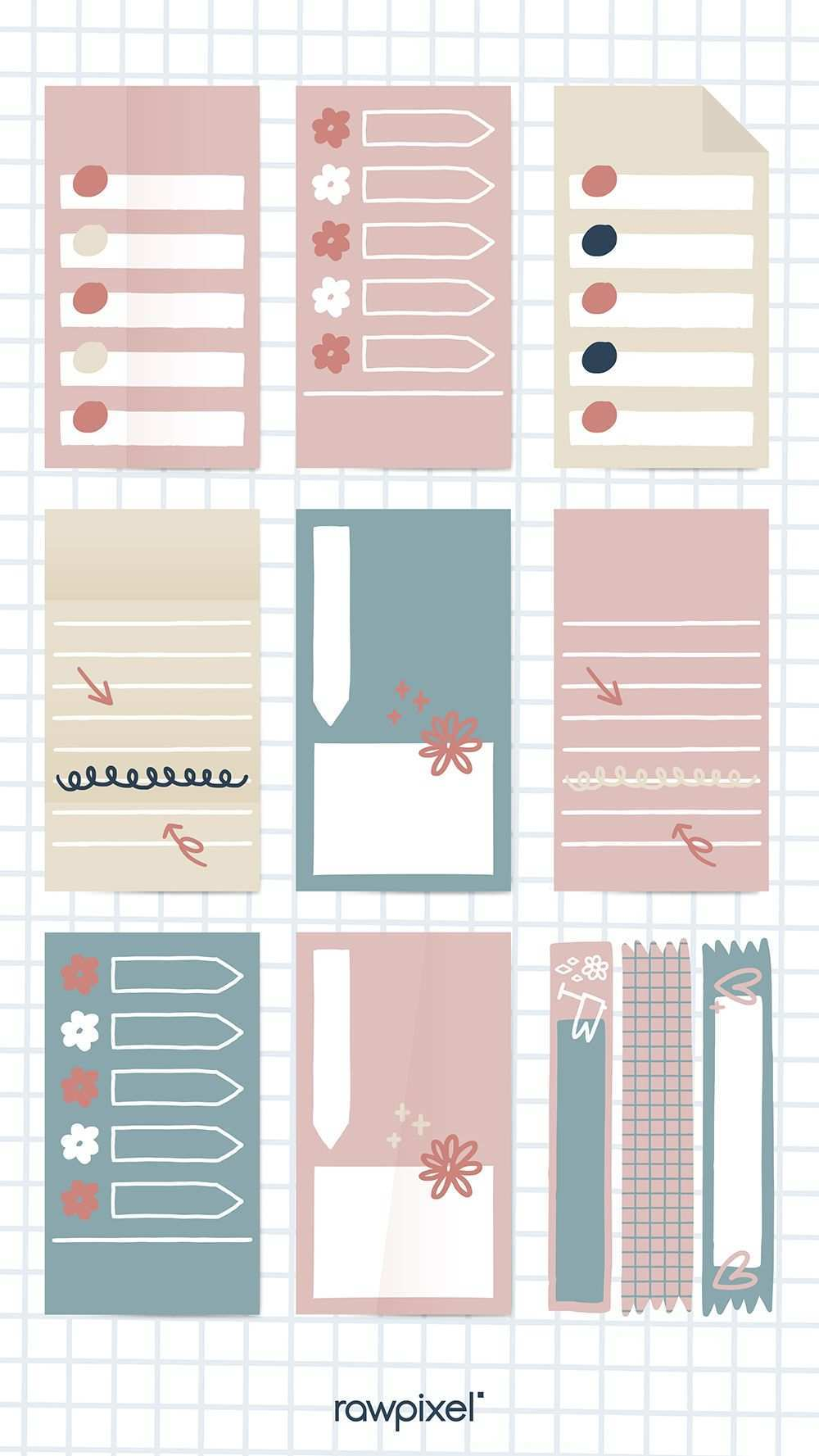 Download Premium Vector Of Sticky Note Doodle Collection Vectors 842895 Note Doodles Sticky Notes Vector Free