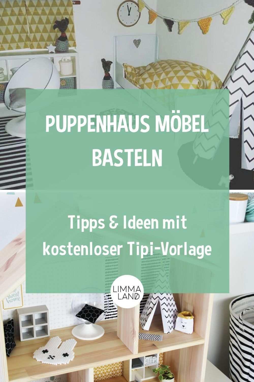 Ikea Puppenmobel Pimpen Und Bastelvorlage Tipi Fur Puppenhaus Puppenhaus Puppenmobel Puppenhausmobel