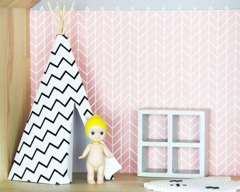 Ikea Puppenmobel Pimpen Und Bastelvorlage Tipi Fur Puppenhaus Puppenmobel Puppenhaus Puppenhaus Zubehor