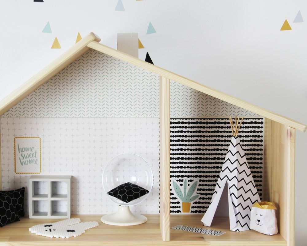 Ikea Puppenmobel Pimpen Und Bastelvorlage Tipi Fur Puppenhaus Puppenmobel Puppenhaus Ikea Kindermobel