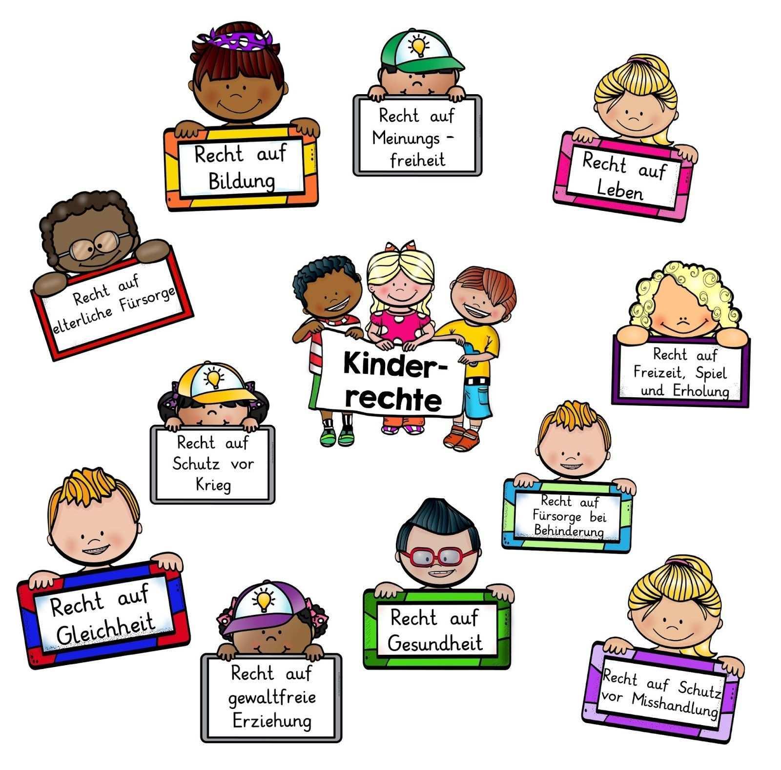 Zum Thema Kinderrechte Habe Ich Dieses Tafelmaterial Erstellt Dabei Habe Ich Mich Zum Grossteil Auf Die Wichtigsten Rechte Nach Kinderrechte Grundschule Kinder