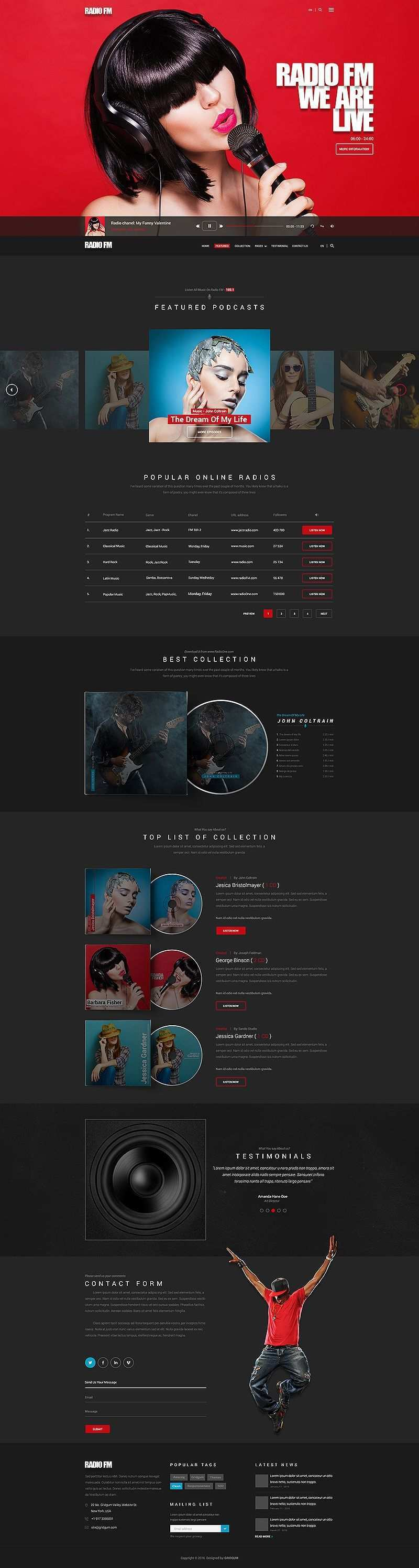 Radio Fm Bootstrap Responsive Theme Template Radio Fm Radio Responsive Theme