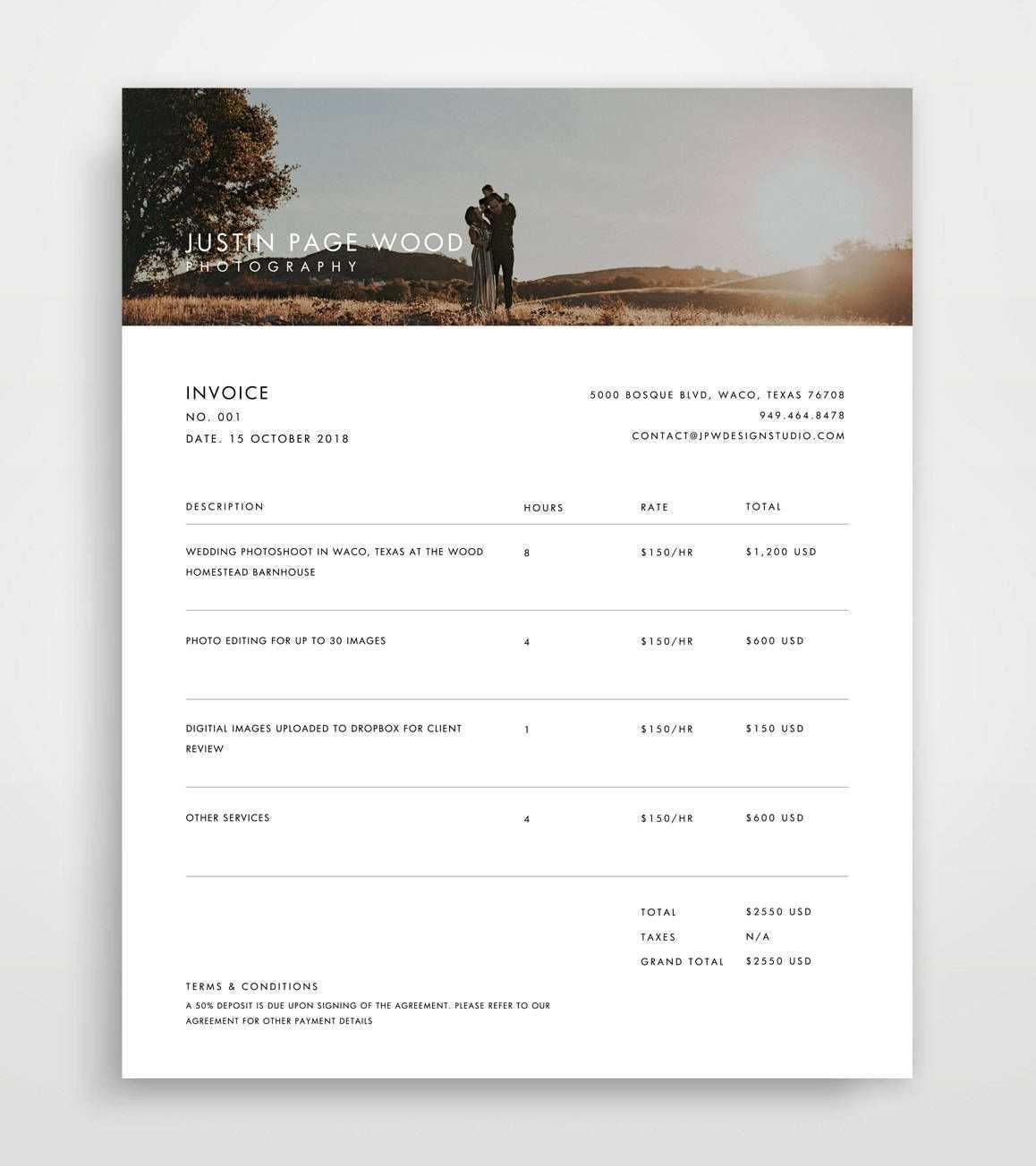 Rechnung Rechnungsvorlage Rechnung Vorlage Fotografie Etsy Photography Invoice Template Photography Invoice Invoice Template