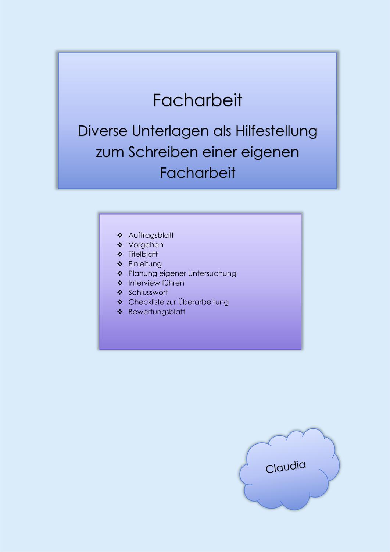 Dossier Facharbeit Arbeit Facharbeit Erzieher Lernen