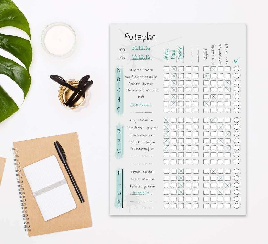 Der Putzplan Zum Abreissen Fur Wgs Wg Putzplan Vorlage To Do Liste Haushaltsplan Vorlage Haushaltsplaner Planer