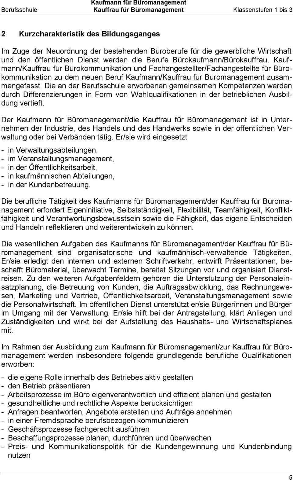 Kaufmann Fur Buromanagement Kauffrau Fur Buromanagement Pdf Kostenfreier Download