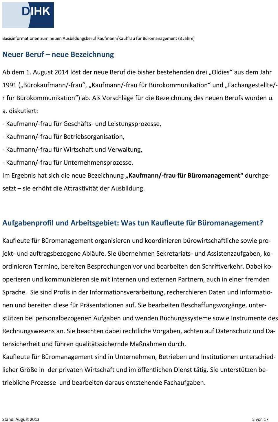 Kaufmann Kauffrau Fur Buromanagement Pdf Kostenfreier Download